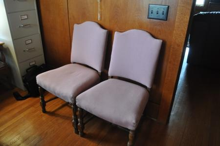 1950's Antique sitting room chairs (Pink)