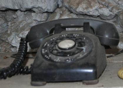 Black Vintage Rotary Telephone