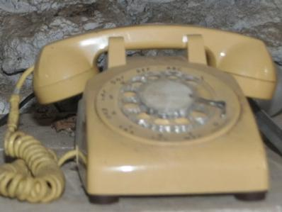 Yellow Vintage Rotary Telephone