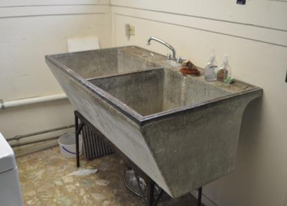 Original Antique Concrete Wash/Laundry tub