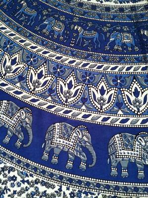 Nepali Elephant Print Tablecloth