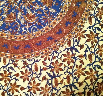 Nepali Floral Print Tablecloth