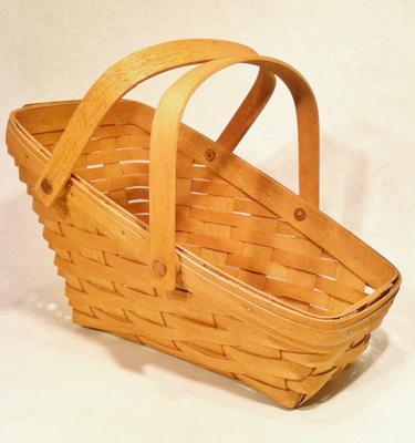 Handwoven Vintage Longaberger Vegetable Basket