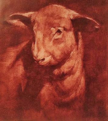 Print of Lamb painting