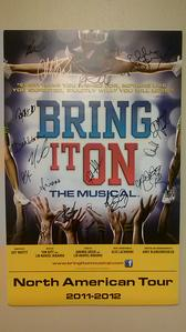 Bring It On, The Musical (signed poster)