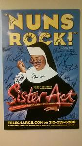 Sister Act, A Divine Musical Comedy (signed poster)