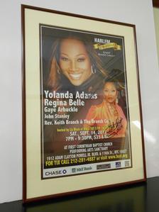 Harlem Inspired Poster - Signed by Yolanda Adams & Regina Belle