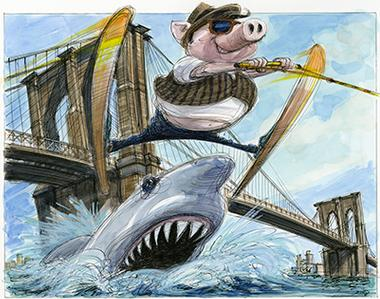 "VICTOR JUHASZ: ""BROOKLYN DINING JUMPS THE SHARK"""