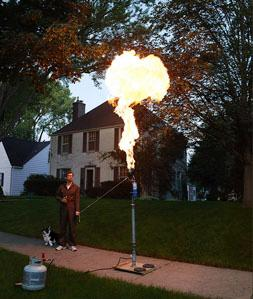 """CHRIS BUCK: """"BILL GURSTELLE WITH FLAME THROWER"""""""