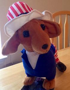 Stuffed Fourth of July Wiener