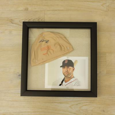 Mike Napoli Signed Cap & Picture Package