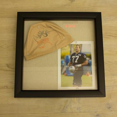 Nate Solder Signed Cap & Picture Package