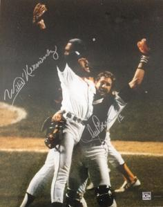 Lance Parrish and Willie Hernandez 16 x 20 photo