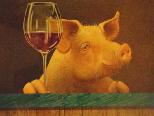 This Little Piggy went Wine Tasting by Will Bullas