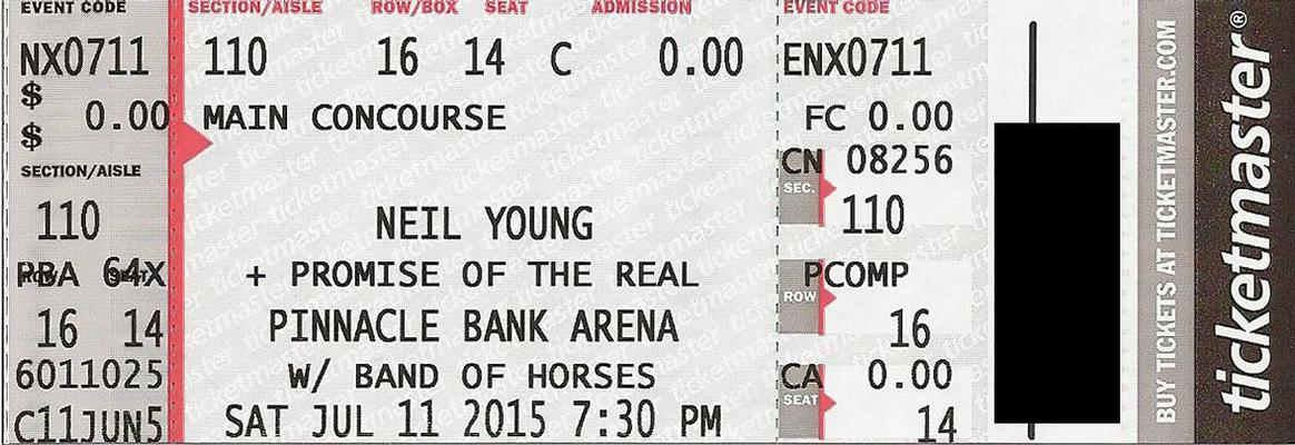 Lincoln, NE - July 11 - Section 110 Row 16 Seat 14