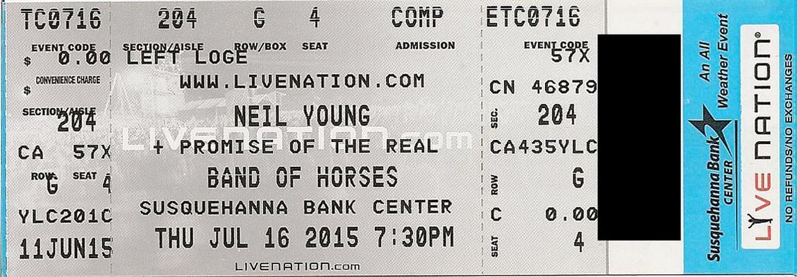 Camden, NJ - July 16 - Section 204 Row G Seat 04