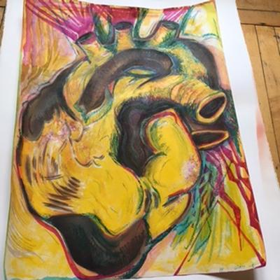 Heart Monoprint #666 - Wade Rosenthal, 2016