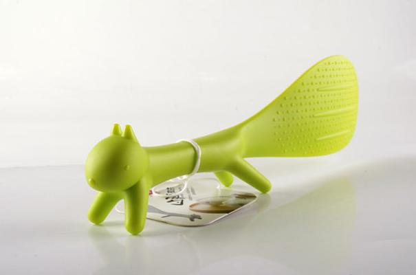 Green Squirrel Rice Scoop