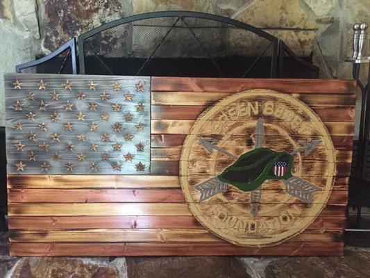 Carved U.S. Flag