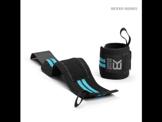 Better Bodies Women's Wrist Wraps -Aqua