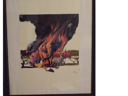 Wildlife in Peril Signed Professional Print by Sassan Filsoof