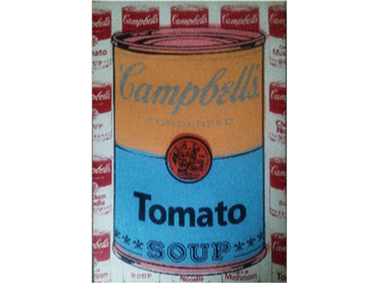 Campbell Soup Can by Andy Warhol's Art Assistant Steve Kaufman