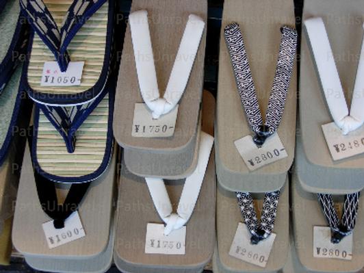 Geta Sandals, Signed Original