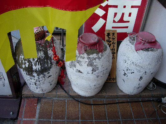 Clay Storage Pots, Signed Original
