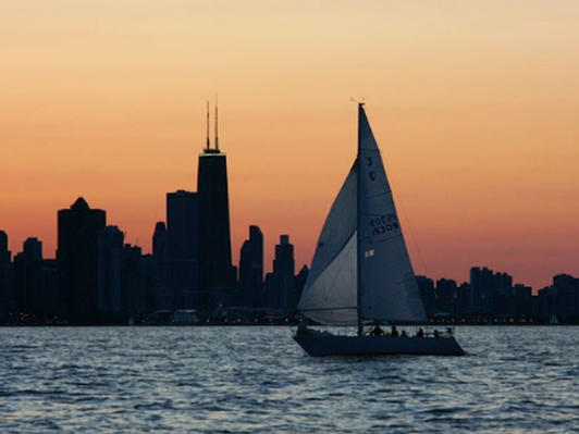 Lake Michigan Sunset Sailing Cruise (up to 12 people)