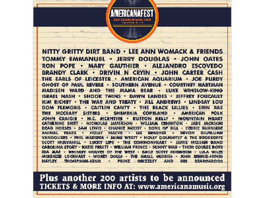 All Access Passes & Airfare to AmericanaFest