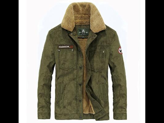 Men's Med. Outdoor ASFJEEP Warm Jacket