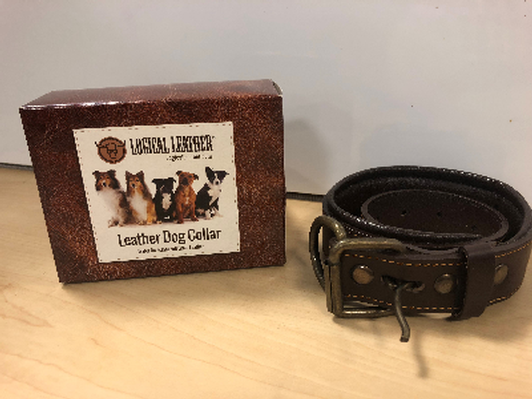 Logical Leather-Leather Dog Collar 25LC