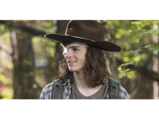 Signature by Chandler Riggs (Carl Grimes) From Walking Dead Headshot