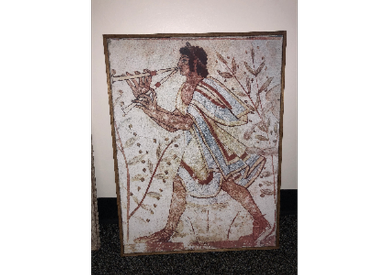 Authentic Italian Imported Reproduced Etruscan Fresco Painting