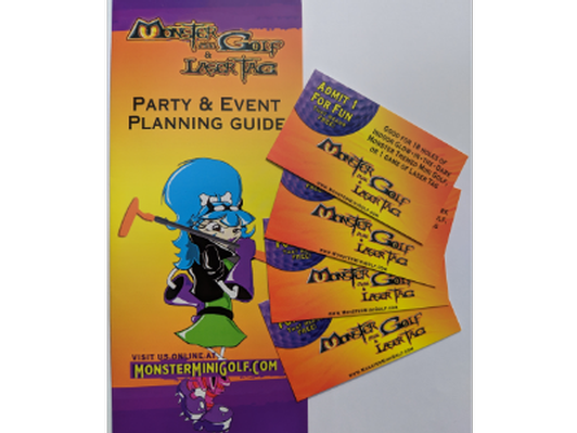 Monster Mini Golf and Laser Tag 4 passes