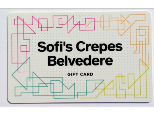 Sofi's Crepes $25 Gift Certificate