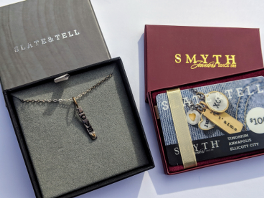 Slate & Tell Necklace with Love charm and $100 gift card