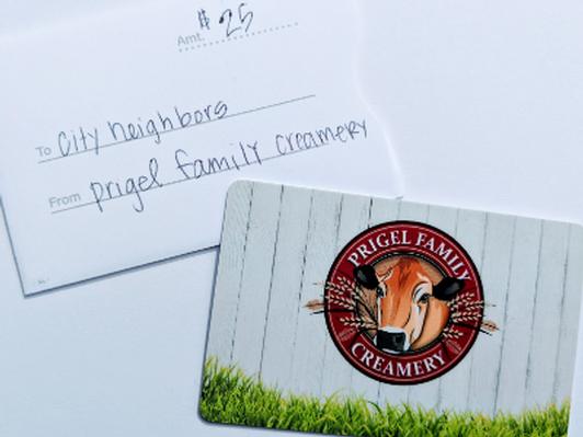 Prigel Family Creamery $25 Giftcard