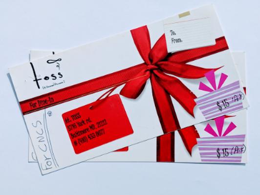 Toss A Gourmet Pizzeria 2 $15 Gift Certificates
