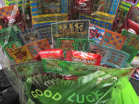 Texas Lottery Scratch-Off Basket