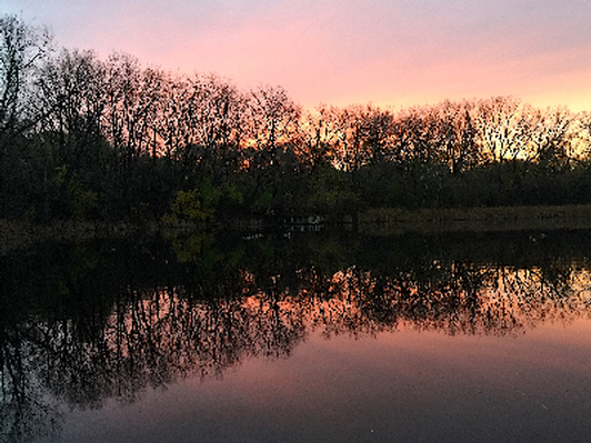 Solitude at Sunset - Canvas print