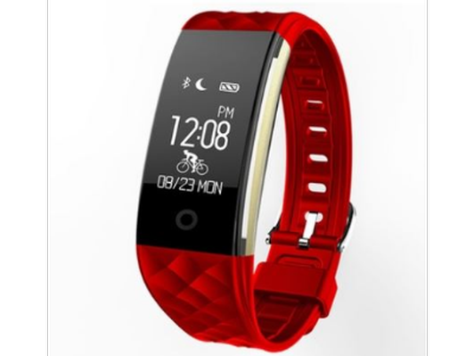 Touch Screen Smart Bracelet Fitness Tracker with Cycling Mode Music Camera Control