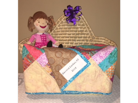 Handmade Quilt and Doll