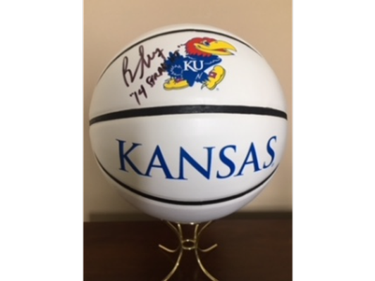 Bill Self Autographed KU Basketball