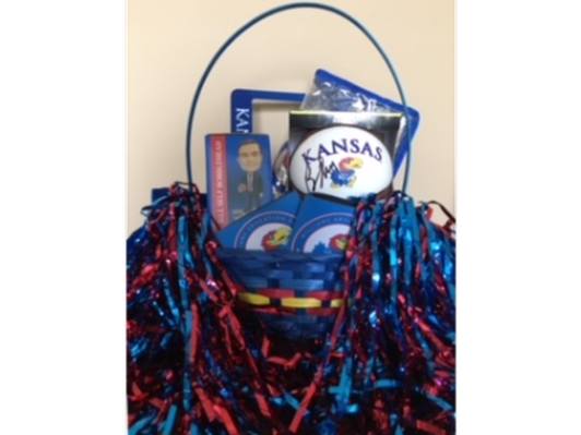 KU Basket - Signed Ball, KU Koozies, Bobblehead, License Plate Holder, KU Plastic Purse.
