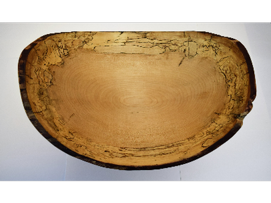 Spalted Maple Oval Bowl - Bid at the Gala!