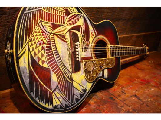 Gretsch Guitar Painted by David Hale