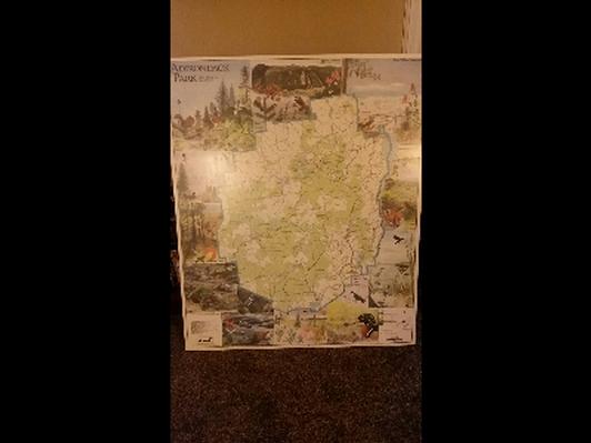 Adirondack Wall Map