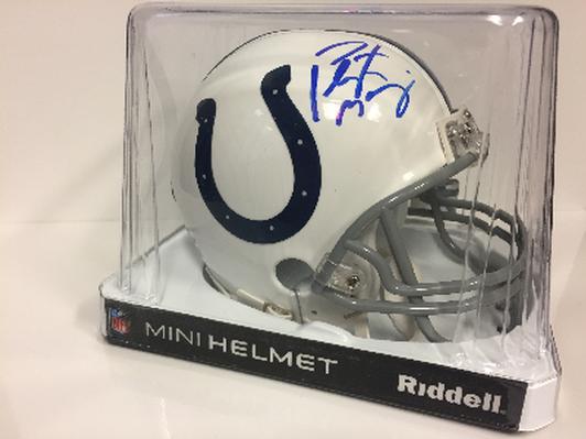 Mini helmet signed by Peyton Manning