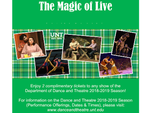 UNT Dance & Theatre Package
